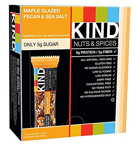 Nuts & Spices, Maple Glazed Pecan & Sea Salt - KIND Bars - Qty 1