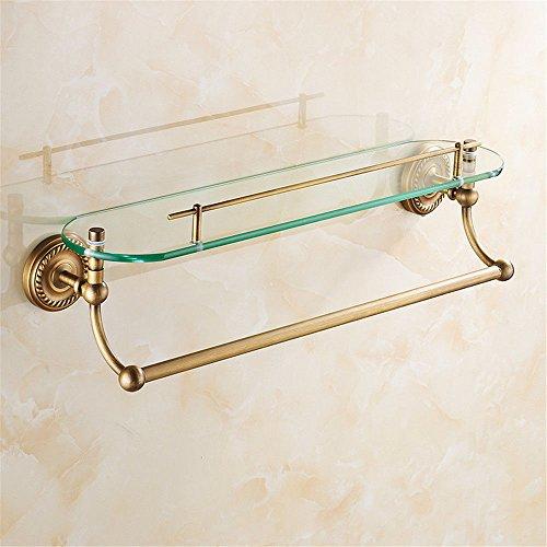 Arredi in ottone classico stile europeo rack bagno asciugamano da bagno kit di montaggio in rack per i bagni, incorporata nel ripiano 1
