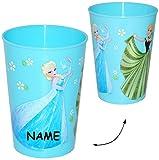 alles-meine.de GmbH 1 Stück _ Trinkbecher / Becher -  Frozen - Disney die Eiskönigin  - BLAU - 280 ml - incl. Name - auch als Zahnputzbecher / Malbecher - Küche Essen Kind - vö..