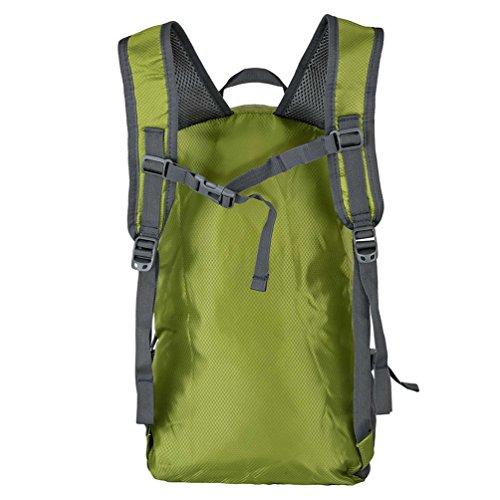 iRegro Solar Rucksack mit Akku, Outdoor Ultra-dünner Beweglicher Tasche mit höch Effizienz Sonnenkollektor, 3.5W Solar Panel Tasche mit 2000 mAh Power Bank für Camping, Klettern, Sport, Reisen und Aus Grün