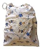 Sacchetto asilo - Coniglietti Coccole Panna -46x60 cm porta indumenti e cambio bimbo