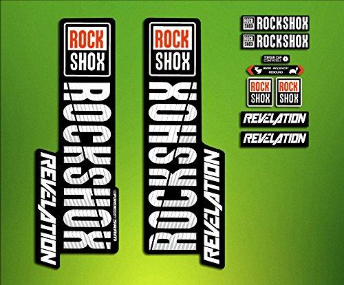 Adesivi Stickers forcella Rock Shox Revelation 2018elx73Fork Aufkleber Decals MTB Adesivi forcela
