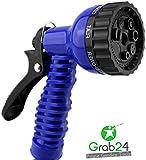 GYD Gartenschlauch-Brause für Bewässerungsschlauch mit 6 Funktionen Blau