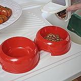 Ferplast 71910021W1 Futterbar für Katzen Lindo, 2 Näpfe in rot - 5