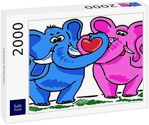 Lais Puzzle Elefante de Dibujos Animados 2000 Piezas