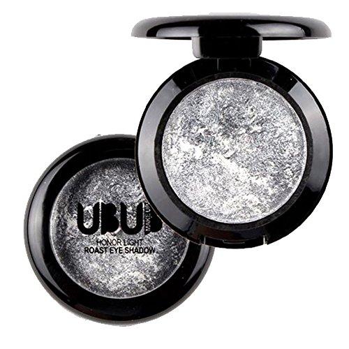 alette Schimmer Glitter Lidschatten Einzelne gebackene Lidschatten Pulver Palette Schimmer metallische Lidschatten-Palette Highlighter-Stick Glitter Eyeliner ()