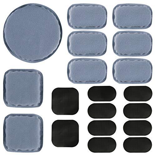Aoutacc Protections pour Casque Universal Airsoft, Kits de Rembourrage en Mousse de Remplacement pour Casque 19pcs / Set Set Tapis pour Casque Fast/Mich/ACH/USMC/PASGT (Memory Foam, Gray)