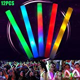 Remaxm - Varita mágica LED Intermitente Que Cambia de Color, 48 cm, Espuma, bastón de luz LED, Cambia de Color, Soporte de Concierto