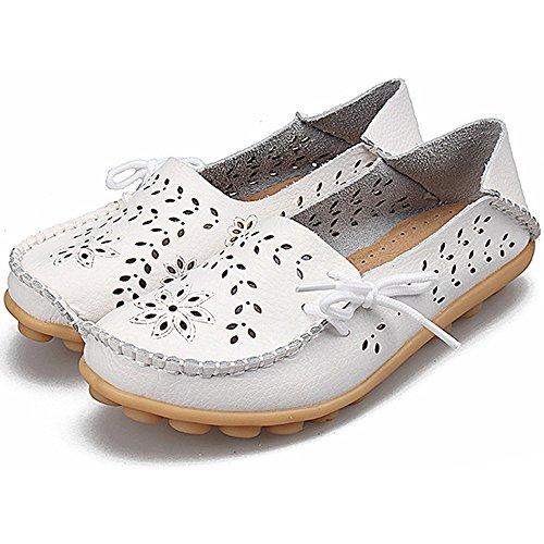 Eastlion Hohle Lederne Loch-Schuh-flache Untere Schuhe Beiläufige Krankenschwester-Schuhe Farbe 1