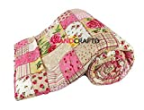 #3: Handcraftd AC Quilt/Blanket - Floral Soft Designer Double bed - MultiColor (Multi)
