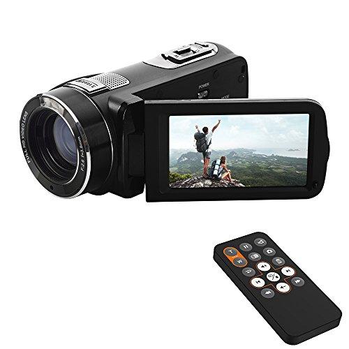 ORDRO Video Camcorder 1080P HD Aufzeichnung Digital Kamera mit Fernbedienung HDMI Ausgang (HDV-Z8 Plus)