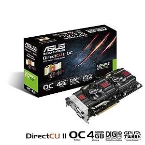 Asus GTX770-DC2OC-4GD5 Carte graphique Nvidia GeForce GTX 770 1058 MHz 4096 Mo PCI Express
