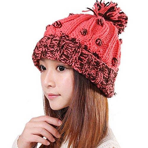 Chapeau de laine des femmes coréennes/ Mme chapeau chaud/Chapeau boule mignon/Fashion, bonneterie C