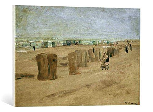 kunst für alle Leinwandbild: Max Liebermann Strandbild in Noordwijk - hochwertiger Druck, Leinwand auf Keilrahmen, Bild fertig zum Aufhängen, 75x50 cm