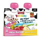 Pascual Yogur Liquido Fresa-Plátano - Paquete de 2 x 80 gr - Total: 160 gr