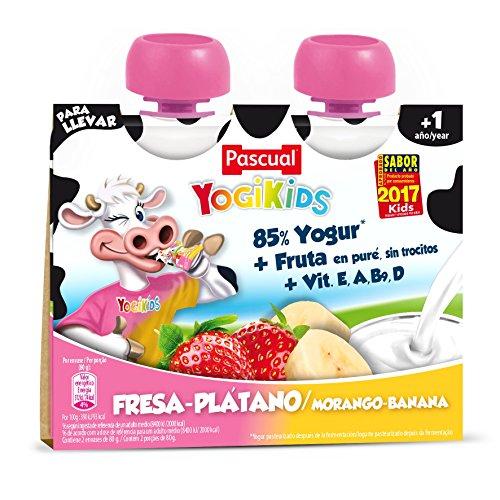 Pascual Yogur Liquido Fresa-Plátano - Paquete 2 x