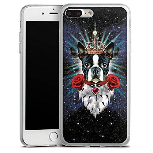 Apple iPhone X Slim Case Silikon Hülle Schutzhülle Hund Französische Bulldogge König Silikon Slim Case transparent
