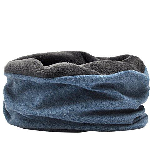 Butteme Unisex Baumwolle Hut und Halswärmer Kragen Schal & Maske 3 in 1 mit Fleece Futter weichen Stretch Slouchy Hip-Hop Beanie Hut Skull Cap für Frauen Männer (Cap Kragen)