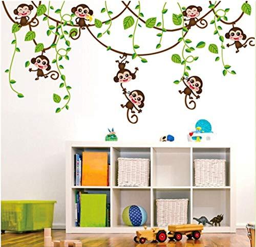 FROOKE 2019 hot Monkey Dschungel Baum wandaufkleber Abnehmbare pc inyl Kunst Aufkleber Kid kinderzimmer dekor