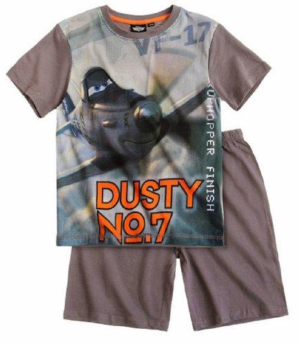 Disney Planes Jungen Shorty Pyjama / Schlafanzug (98, grau)