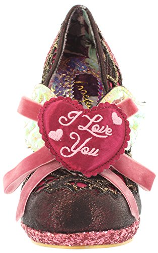 Irregular Choice, Scarpe col tacco donna Multicolore (Burgundy Multi)