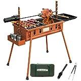 Barbecue, Rotation du Gril électrique Barbecue Camping Équipement de Terrain des...