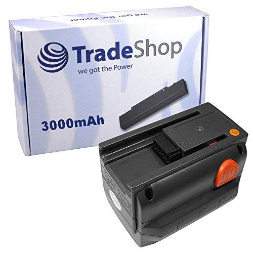 Trade-Shop Premium Li-Ion Ersatz Akku 18V / 3000mAh für Gardena Allround Bläser Accujet 18-Li, Akku-Kettensäge CST 2018-Li, Heckenschere Easycut 50-Li 8873, Ergocut 48 8878, Highcut 48-Li 8882