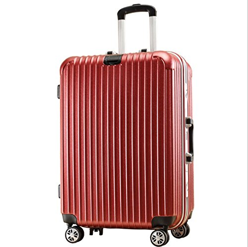 "Xiuxiandianju PC Business Trolley valigie valigia diverse dimensioni (20"" 22""24"") , red , 24 inch"