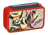 Giochi Preziosi - Transformers Astuccio Triplo con Colori, Pennarelli ed Accessori Scuola