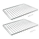 First4Spares Universal verstellbar ausziehbar Ofen Regal/Herd/Kühlschrank Rack, 352–566mm, 2Stück