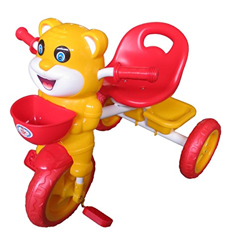 HLX-NMC HAPPY TIGER KIDS TRICYCLE - RED/YELLOW(EASY ASSEMBLY EDITION)  available at amazon for Rs.1675