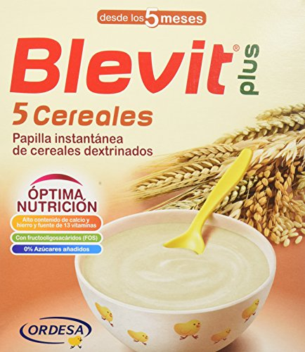 Blevit Plus 5 Cereales - Paquete 2 x 300 gr - Total: