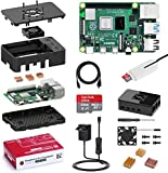 Bqeel Raspberry Pi 4 Model B Starter Kit Completo, RPi Barebone 2GB RAM+MicroSD 64GB, 4K Dual displays Raspberry Pi con Tipo C Alimentatore 5.1V 3A, Ventola, Lettore scheda