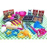 TikTakToo Backset 50 teilig Kuchen Plätzchen backen für Kinder Kinderküche Spielküche