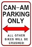 Aersing Can-Am Parking Only Aluminium-Metallschilder, lustiges dekoratives Outdoor-Motorrad Parken Wandschild für Zuhause, 20,3 x 30,5 cm