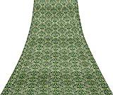 Svasti Vector Design Damast-Weinlese-Silk Sari Weiß