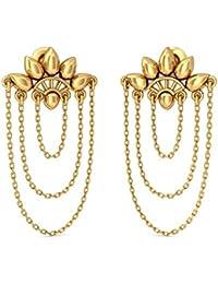 BlueStone 22k (916) Yellow Gold Desirous Charm Drop Earrings