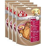 8in1 Fillets Pro Skin & Coat Hundesnacks, Größe S, funktionale Leckerlies fü Hunde, Hähnchensnack, 4er Pack (4 x 80 g)