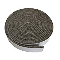 "High Temp Grill Gasket Replacement Fit Kamado Joe Classic and Big Joe BBQ Smoker Gasket Pre-Shrunk Accessories Self Stick Felt 15ft Long, 9/8"" Wide, 1/8"" Thick"