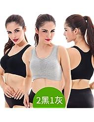 ZHUDJ 3Er-Pack Sport-Bh Schock Fitness Laufen Yoga Kein Stahl Ring Bewegung Bh-Hemd