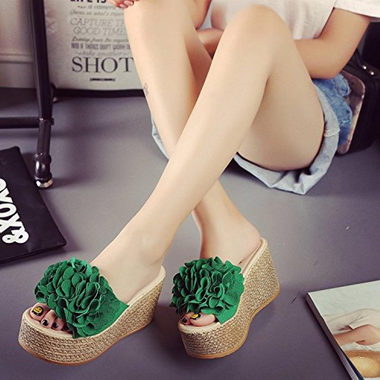 @Sandals Slittamento Delle Pantofole Con La Parte Inferiore Inferiore Inferiore Della Tabella Di Traino,40,verde | Garanzia di qualità e quantità  a12f7d