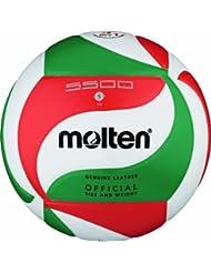 Molten Volleyball V5M5500, Weiß/Grün/Rot, 5