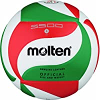 Molten Volley Ball - 5, White/Green/Red