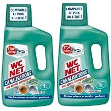 Limpiadores de drenaje neto WC, fresco fragancia mentol, 1 L, 2 pcs
