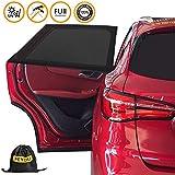 Solar Toy Car (2Pieces), Pemotech [Flexible] Dehnbaresnetz Child Car Rear Side Window Sun Shade for Baby, Your Baby and Elderly Werdenvorsonnengeschützt, Geeignetfür Trucks & SUVs