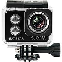 SJCam SJ7 Star - Cámara Deportiva (4K, WiFi, 16 MP, Pantalla táctil 2.0'', SuperView, Sumergible 30 m) Color Negro