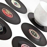 Spinning Hat - Posavasos, diseño de discos de vinilo