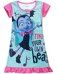 8ce33d981 Junior Vampirina Night Gown The Vamp Batwoman Comfy Loose Fit PJS Pyjamas  Girls Printed Princess Dress