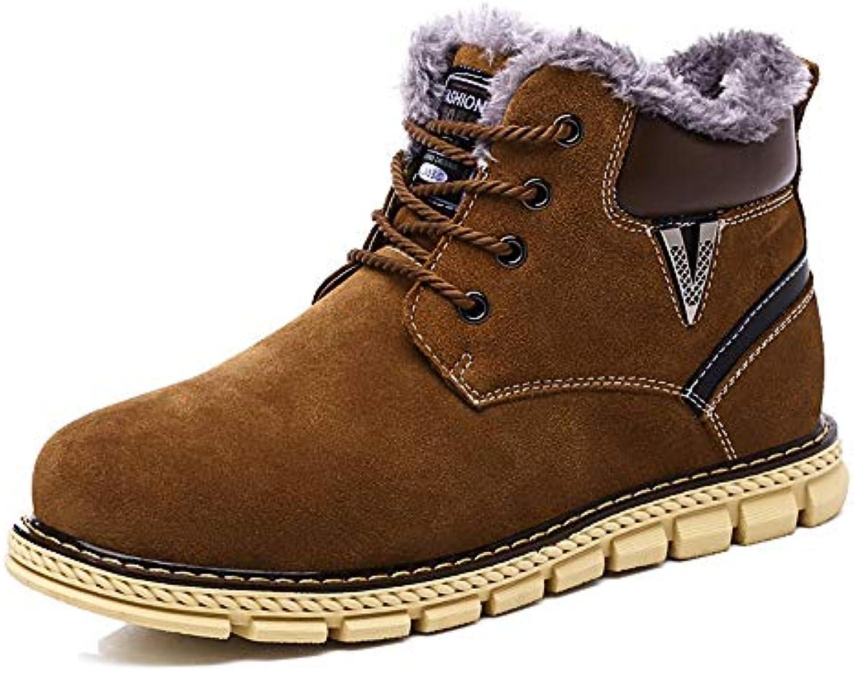 SHENNANJI Scarponi da Neve alla Moda da Uomo Home Scarpe Casual Semplice Lace-up Inverno Faux Fleece Insidescarpe | Eccellente valore  | Gentiluomo/Signora Scarpa