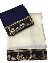 Rewa Enterprise Chanderi Sarees | Party Wear Sarees | Sarees With Blouse Piece | Colour - White